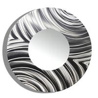 Statements2000 Silver Metal Decorative Wall-Mounted Mirror by Jon Allen - Mirror 112