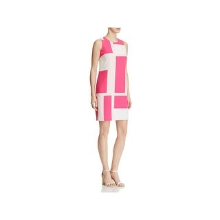 Vince Camuto Womens Wear to Work Dress Printed Knee-Length