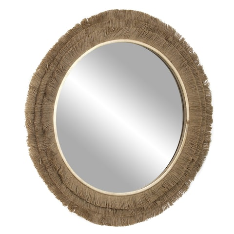"Jute Rope Accent Mirror - 25"" (Brown)"