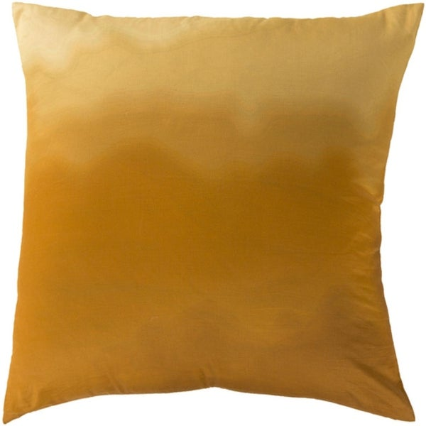 "18"" Golden Yellow Decorative Square Throw Pillow with Knife Edges"
