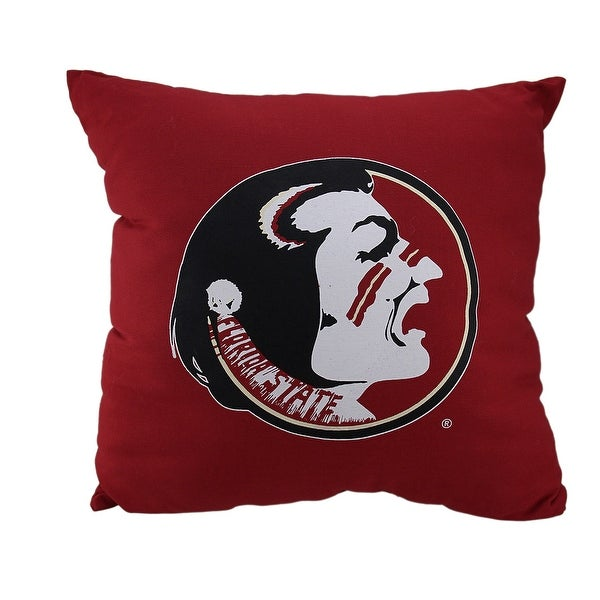 NCAA Florida State University Seminoles Team Color Throw Pillow 18 inch - Red