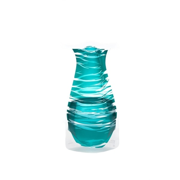 Modgy 66121x2 Myvaz Expandable Flower Vase Bandido Emerald-Pack of 2