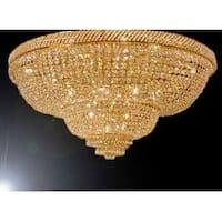 French Empire Crystal Flush Basket Chandelier Lighting