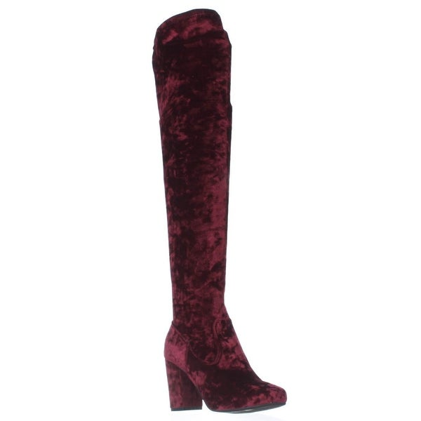 Carlos by Carlos Santana Rumer Over the Knee Slouch Boots, Malbec