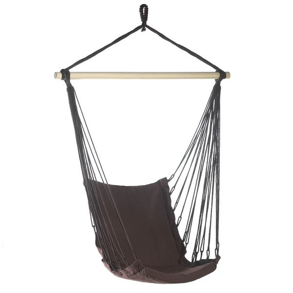 Modern Outdoor Espresso Swing Chair