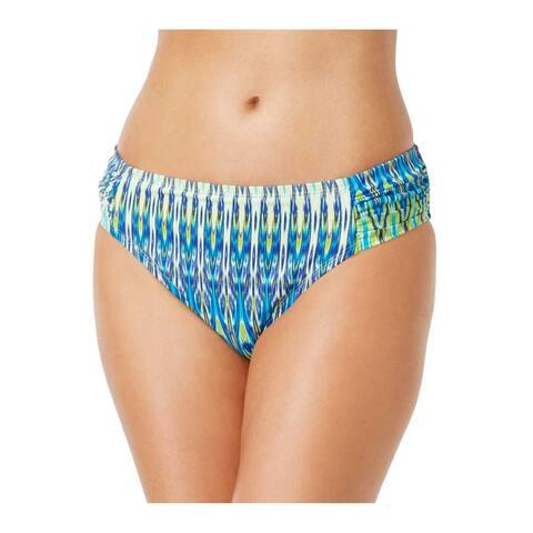 BLEU By Rod Beattie Womens Swimsuit Hipster Bikini Bottom Size 14 Twilight Ikat