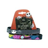 Nightmare Before Christmas Jack & Sally Wristband Set