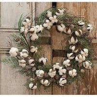 """Glitter Cotton & Cone Wreath, 22"""""""