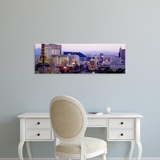 Easy Art Prints Panoramic Images's 'Las Vegas NV USA' Premium Canvas Art
