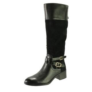 Franco Sarto Womens Lapis Leather Suede Knee-High Boots - 8 medium (b,m)