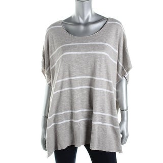 Eileen Fisher Womens Striped Oversized Pullover Top
