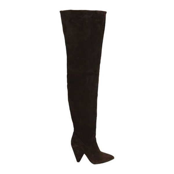 10be21362d8 Shop Kenneth Cole New York Women s Galway Over The Knee Slouch Boot  Chocolate Suede - Free Shipping Today - Overstock - 25595147
