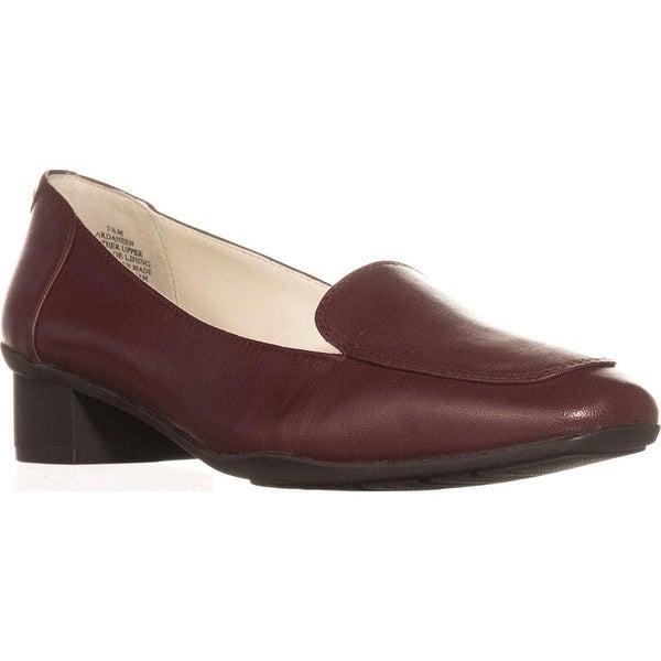 Anne Klein Daneen Slip-On Dress Loafers, Wine - 7.5 us