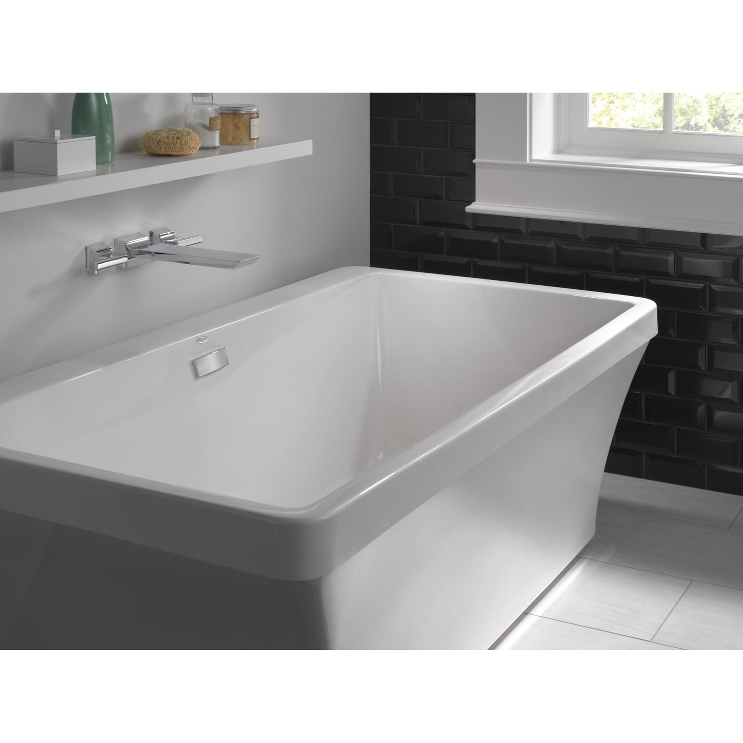Delta T5799 Pivotal Two Handle Wall Mounted Tub Filler Less Valve Overstock 18613206