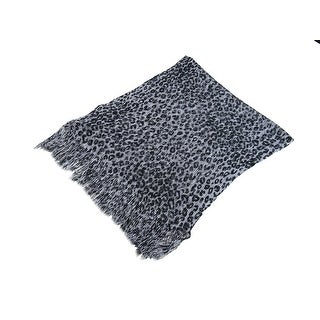 Link to Black And Silver Metallic Leopard Print Lightweight Poncho Similar Items in Scarves & Wraps