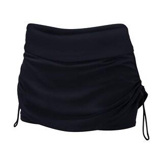 TYR Women's Swimwear  Black Size Large L (10-12) Solid Della Skort