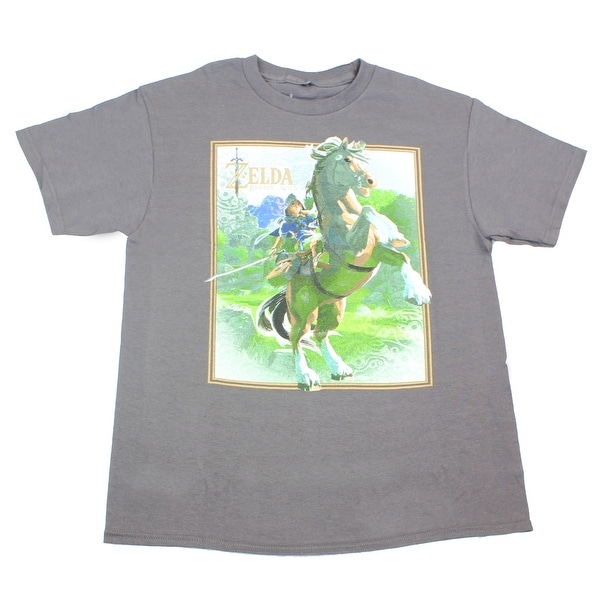 544e85d10 Shop Legend of Zelda: Breath of the Wild Link on Horse Grey Youth T-Shirt -  Free Shipping On Orders Over $45 - Overstock - 17879961