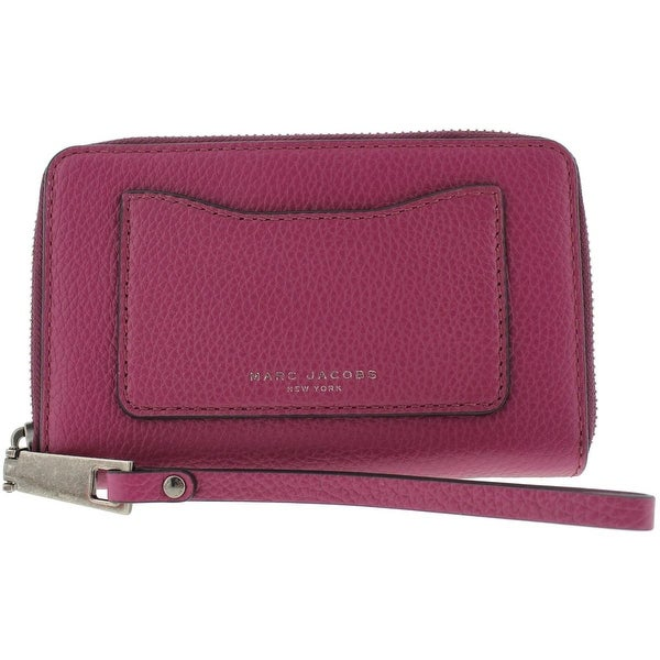 0c42856e1fe Shop Marc Jacobs Womens Wristlet Wallet Leather Pebbled - o/s - Free  Shipping Today - Overstock - 20200526