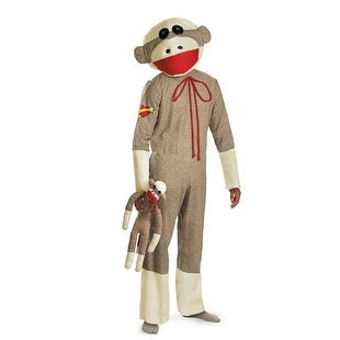 Adult Sock Monkey Puppet Costume- Standard - standard - one size