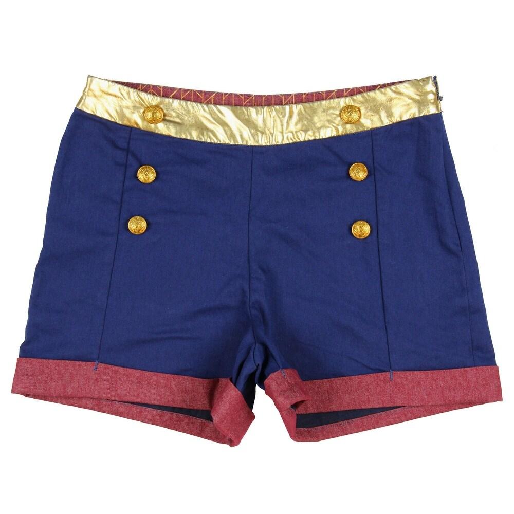 DC Comics Wonder Woman Juniors High Waisted Shorts
