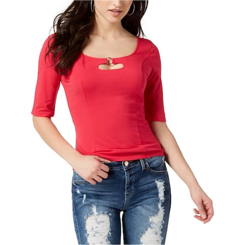 Guess Womens Hardware-Embellished Pullover Blouse