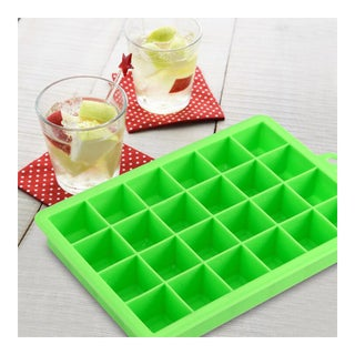 Silicone Mold Ice Cube Container Ice Tray Ice-making Box green