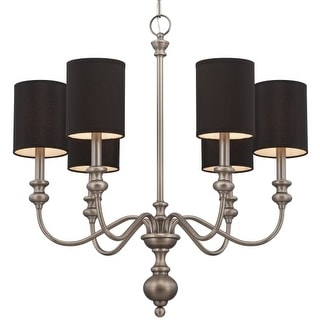 Craftmade 28526 Willow Park Single Tier 6 Light Candle Style Chandelier - 26.5 Inches Wide