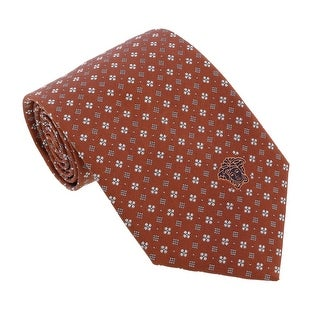 Versace Red Brick Woven Floral Neat Tie