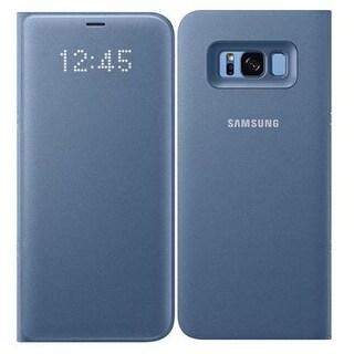 Samsung Electronics Mobility - Ef-Ng955plegus - Glxy S8 Plu Led Walletcvr Blu