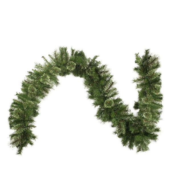 """50' x 14"""" Cashmere Mixed Pine Commercial Length Artificial Christmas Garland - Unlit - green"""