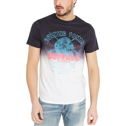 Buffalo David Bitton Men's Tishade Graphic Cotton T-Shirt, Blue, XL