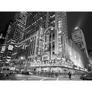 ''Radio City Music Hall Crossing'' by Henri Silberman New York Art Print (23.5 x 31.5 in.)