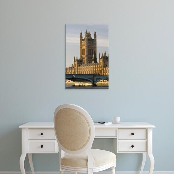 Easy Art Prints Walter Bibikow's 'London: Houses Of Parliament / Morning' Premium Canvas Art