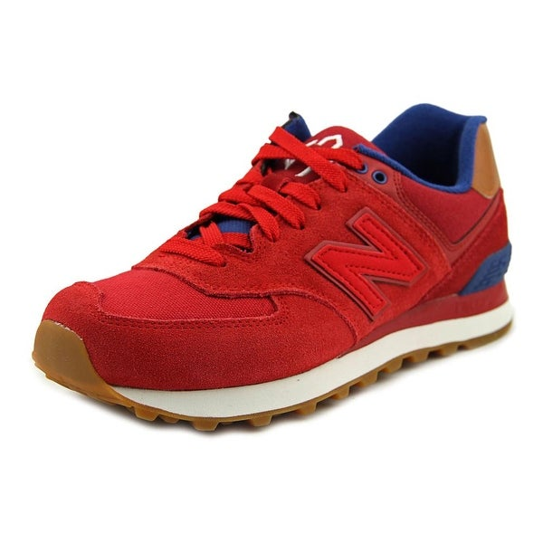 New Balance WL574 Women Round Toe Leather Red Walking Shoe