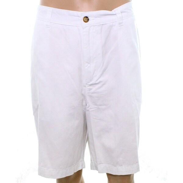 e1da267d194 Club Room NEW Bright White Mens Size 42 Big  amp  Tall Khaki Chino Shorts