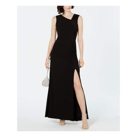 ADRIANNA PAPELL Black Sleeveless Maxi Dress 6