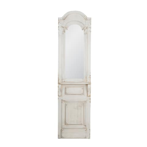 Vintage Distressed White 71.5-inch Mirror