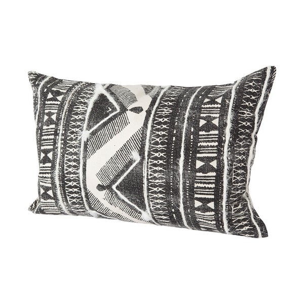 Mercana Beveridge III 13 x 21 Gray Embroidered White Pattern Decorative Pillow Cover. Opens flyout.