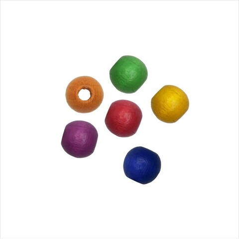 EuroWood Natural Wood Beads, Round 6mm Diameter, 200 Pieces, Multi-Colored