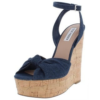 Link to Steve Madden Womens Katerine Wedges Sandals Ankle Strap Similar Items in Women's Shoes
