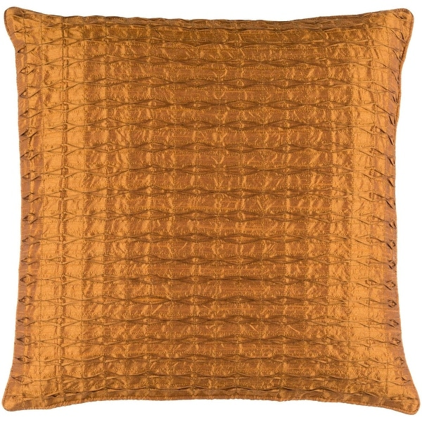 "22"" Orange Contemporary Pattern Quilted Square Throw Pillow with Knife Edges"