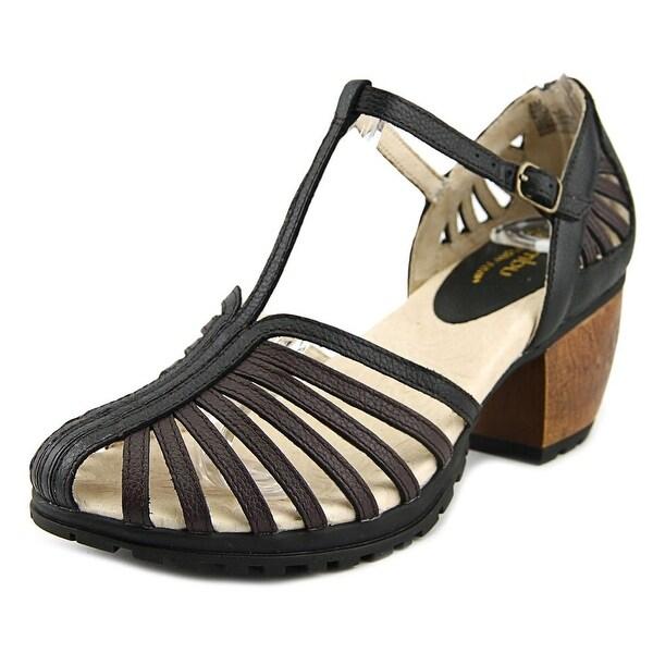 Jambu Sofia Women Open Toe Leather Black Sandals
