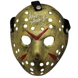 Ari Lehman Autographed Friday The 13th Replica Gold Mask Jason1 BAS