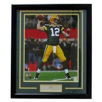 Aaron Rodgers Framed 16x20 Green Bay Packers Photo Laser Engraved Signature