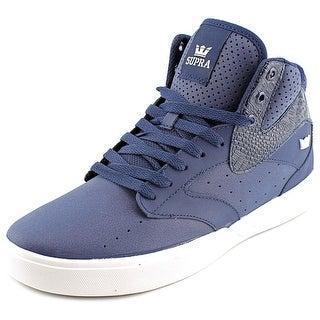 Supra Khan Men Round Toe Leather Blue Skate Shoe