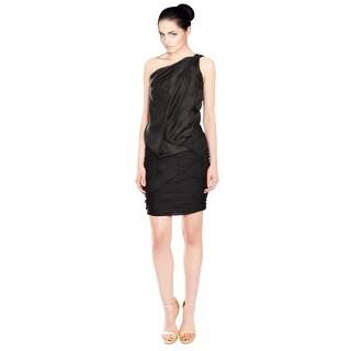 Emanuel Ungaro Sultry Draped Silk Dress