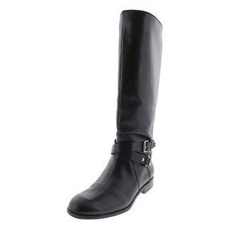 Enzo Angiolini Womens Daniana Wide Calf Leather Riding Boots - 6 medium (b,m)