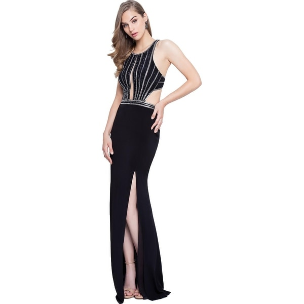 Terani Couture Prom Cut-Out Evening Dress