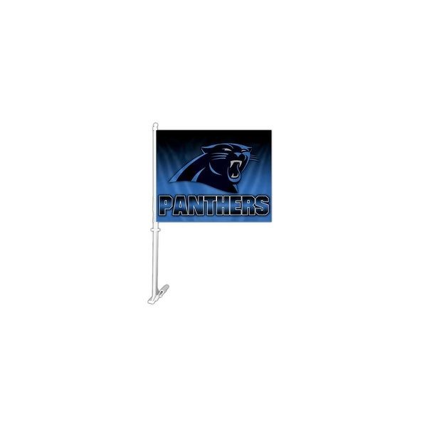 Fremont Die Inc Carolina Panthers Car Flag With Wall Brackett Car Flag