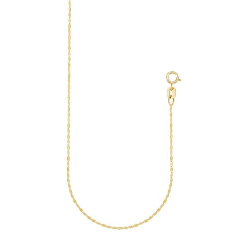 Forever Last 10 Kt Gold Fancy Chain Necklace